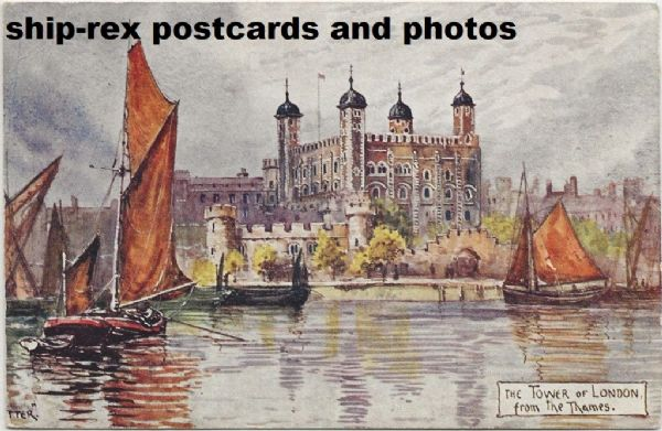 Tower Of London from The Thames, postcard